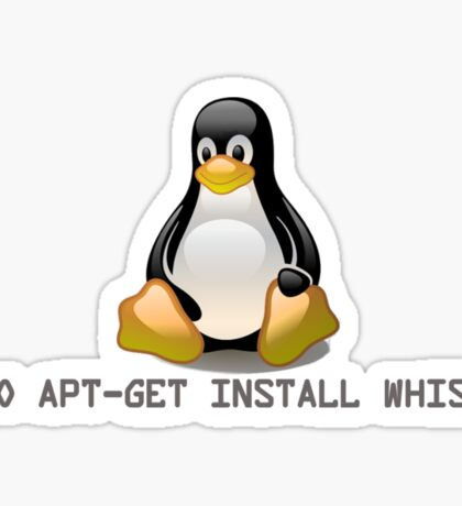 Linux - Get Install Whiskey Sticker