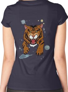 Tiger Jean Jacket Women's Fitted Scoop T-Shirt