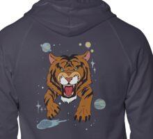 Tiger Jean Jacket Zipped Hoodie