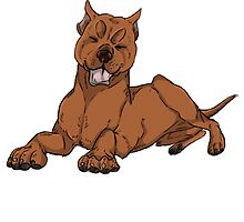 Pit Bull - Red by MakoExplosion