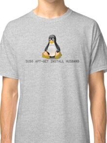 Linux - Get Install Husband Classic T-Shirt