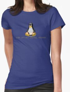 Linux - Get Install Husband Womens Fitted T-Shirt