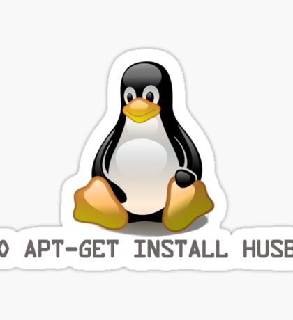Linux - Get Install Husband Sticker