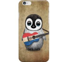 Baby Penguin Playing Paraguay Flag Guitar iPhone Case/Skin