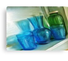 Still life with vintage glass... Canvas Print