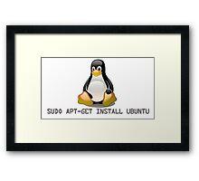 Linux - Get Install Ubuntu Framed Print