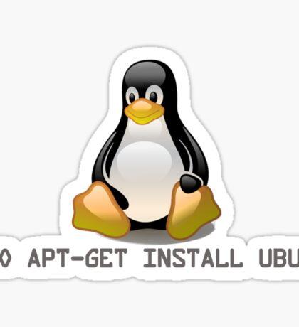Linux - Get Install Ubuntu Sticker