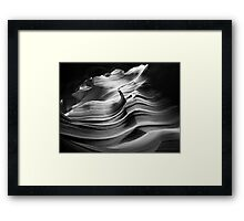 Sandstone Wave ~ Black & White Framed Print