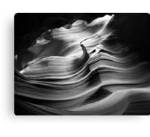 Sandstone Wave ~ Black & White Canvas Print