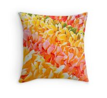 Plumeria leis in hanging Throw Pillow