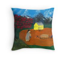 Roasted Pig  Throw Pillow