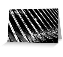 Chrome Ribbed - By. Jonny McKinnon Greeting Card