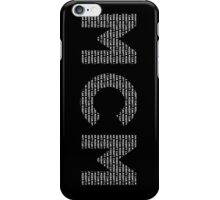 Mighty Car Mods Typography (white) iPhone Case/Skin