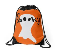 Spooky Ghost Drawstring Bag