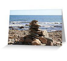 Itty Bitty Rock Pile - Seacliff Beach - South Australia Greeting Card