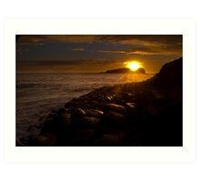 Sunrise @ Fingal Art Print