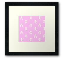 Pink Skull and Crossbones Framed Print