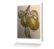 pair of pears Greeting Card
