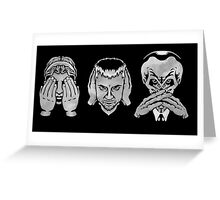 Who No Evil Greeting Card