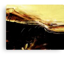 raw thoughts.... pale emotional edge Canvas Print
