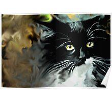 Smoking Cat Poster