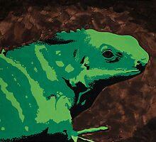 Fiji Iguana by BLACKPALMDESIGN