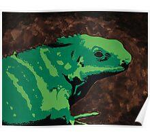 Fiji Iguana Poster