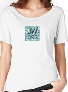 JW.org (white and blue flowers) Women's Relaxed Fit T-Shirt