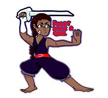 connie the sword fighter Photographic Print