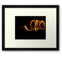 Concentric flame circles Framed Print