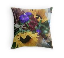 Sunflowers and a Bouquet of Color Throw Pillow