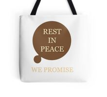 Rest In Peace, Doctor Who Tote Bag