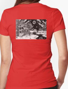 Along the Road to the Tower Womens Fitted T-Shirt