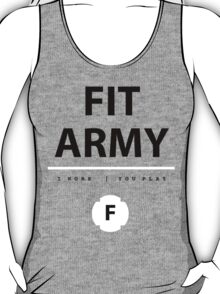 Fit Army Tank in Gray/Black/White T-Shirt