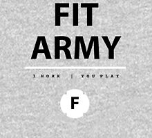 Fit Army Tank in Gray/Black/White Tank Top