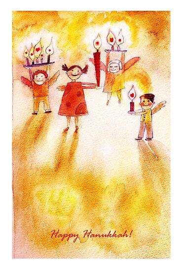 Happy Hanukkah! by Marianna Tankelevich