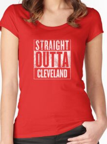 Straight Outta Cleveland Women's Fitted Scoop T-Shirt