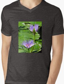 Water Lilies Mens V-Neck T-Shirt