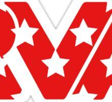 RVA -Stars Red Sticker