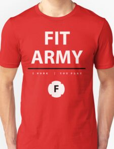 Fit Army Tank in Red/White/Black Unisex T-Shirt