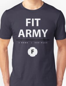 Fit Army Tank in Blue/White/Black Unisex T-Shirt