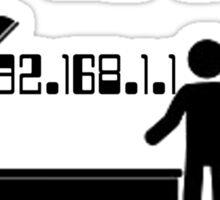 IP in the shower Sticker