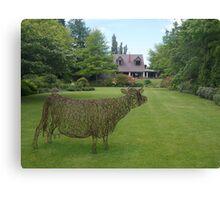 garden sculpture, Flaxmere Garden, New Zealand Canvas Print