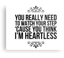 Heartless. Metal Print
