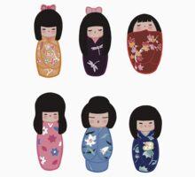 Kokeshi stickers 1 by Joumana Medlej