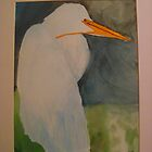 Great Egret by Sylvia Petra Broubalow