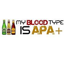 My Blood Type is APA Photographic Print