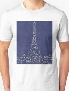 the EIFFEL TOWER IN VLUE T-Shirt