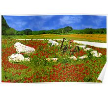 Poppies & Plow Poster