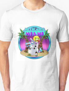 Contour Cut Miami Vice Inspired Colorful logo Unisex T-Shirt